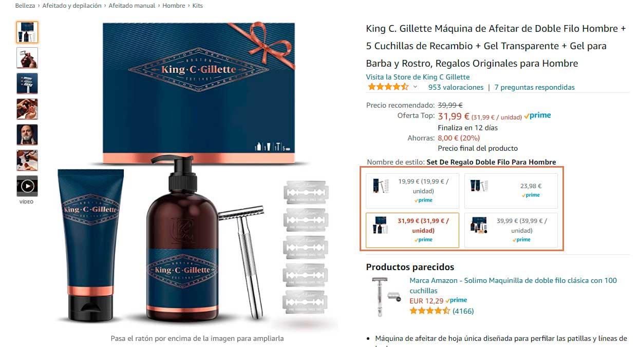Variaciones de producto
